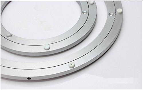 - Z-Color ® 1pcs Diameter 250MM (10 Inch) Aluminum Alloy Table Turntable Bearing Glass Swivel Plate