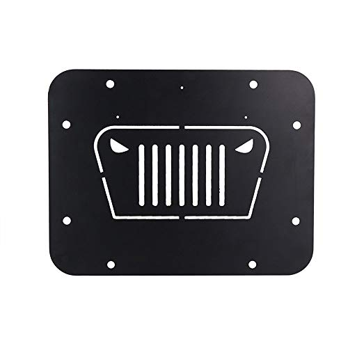 Tailgate Vent-Plate Cover for 2018 2019 Jeep Wrangler JL Spare tire Tramp Stamp