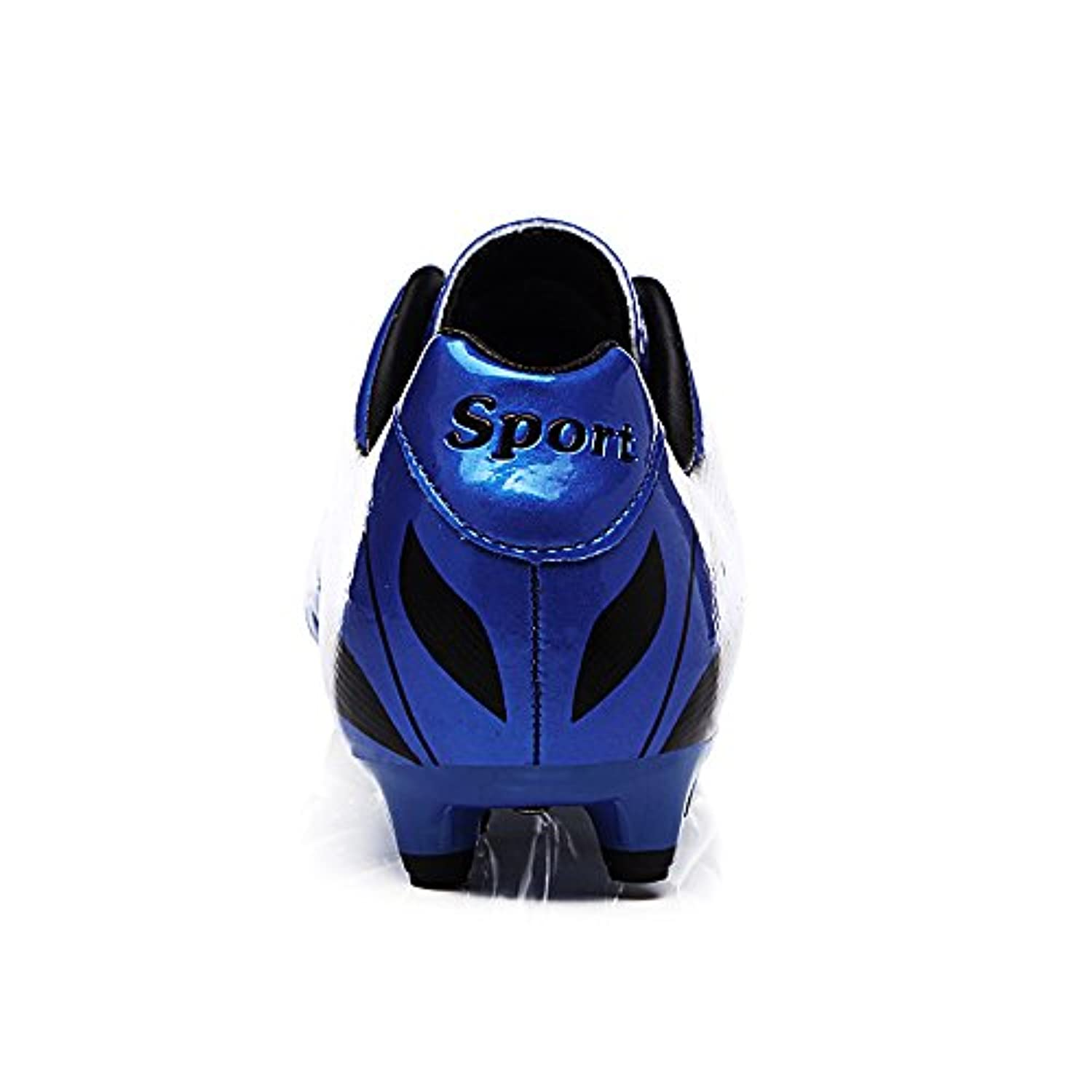 Aleader Boys Girls Football Cleats Rugby Soccer Shoes Blue 2.5 UK