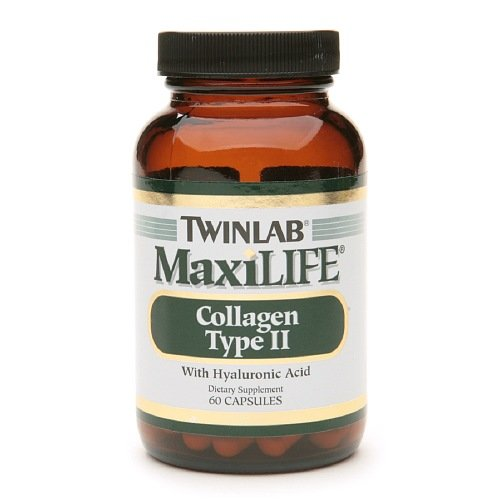 Twinlab MaxiLife du collagène de Type II avec l'acide hyaluronique, 60 Capsules