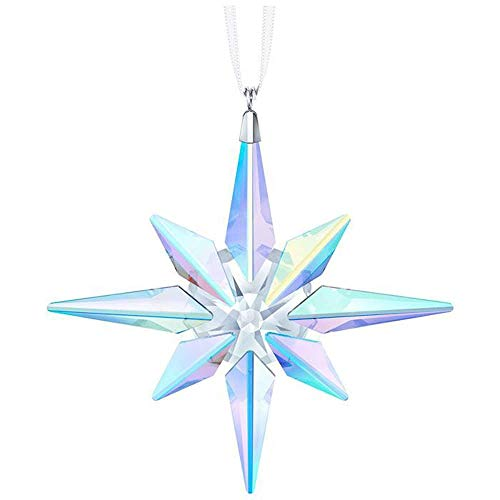 (Swarovski Crystal AB Clear Crystal Clip on Star Ornament, 10.6 x 10 x 1.8 cm)