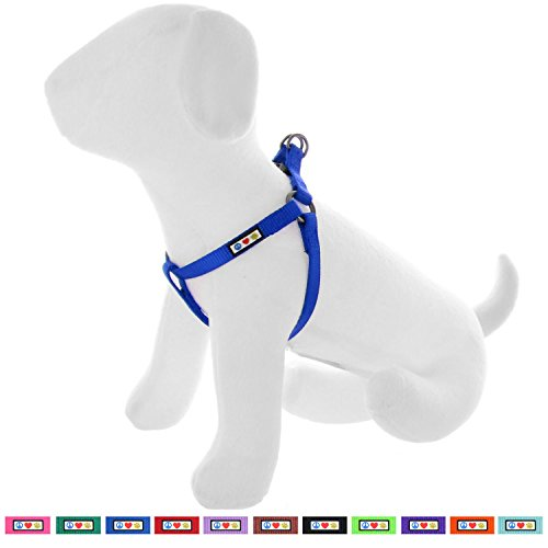Pawtitas Solid Color Step in Dog Harness or Vest Harness Dog Training Walking of Your Puppy Harness Extra Small Dog Harness Blue Dog Harness