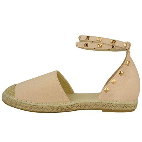 Zapatos De mujer verano planas Tiras Tobillo Piedra n de Alpargatas Sandalias chica Corchete qqnUtWP