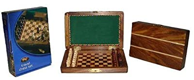 6x4 Inch Pegged Travel Wooden Chess Set