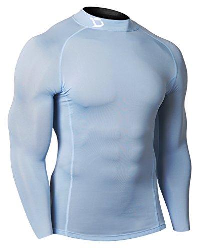 Defender New Men's Thermal Compression Workout Mock Shirts Skin Basketball - Clothing Mena