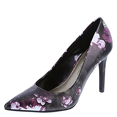 Christian Siriano for Payless Women's Black Floral Women's Habit Pointed Pump 5 Regular