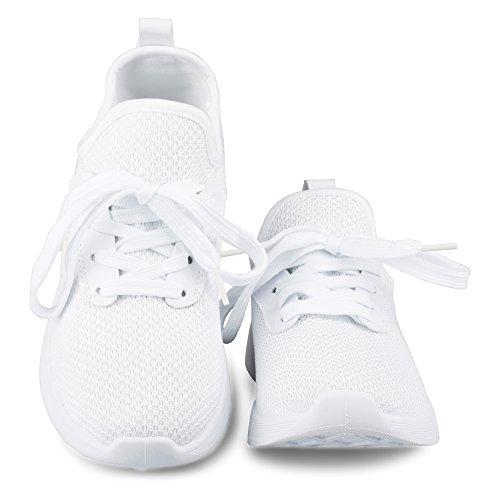 Twisted Damen Dimitria Lightweight Mesh sportlich Mode Sneaker Weiß