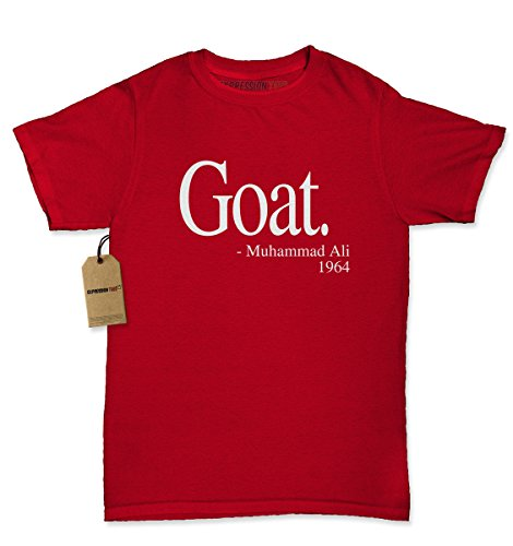 Womens Goat Muhammad Ali Quote T-Shirt X-Large Red