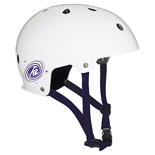 K2 Skate Unisex Jr Varsity Inline Skate Helmet, Matte White Purple, Medium (In Line Jr Helmet Skate)