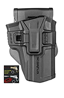 FAB Defense 226 SCORPUS SIG SAUER P226 models Level 1 Paddle&Belt In Black / Tan / Green Color Right Hand + Laser & Flashlight Gun Shaped Key Chain