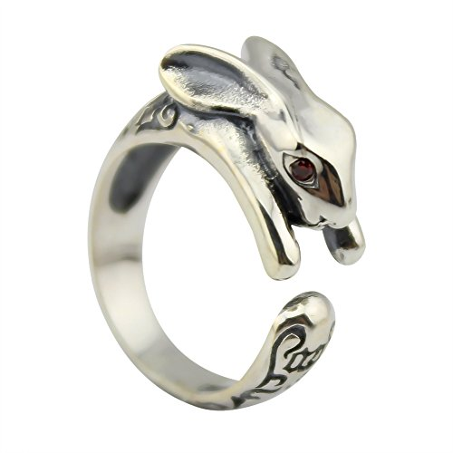 elbluvf-8-off-925-sterling-silver-rabbit-animal-ring-gift-for-friend-everyday-wear-big-size
