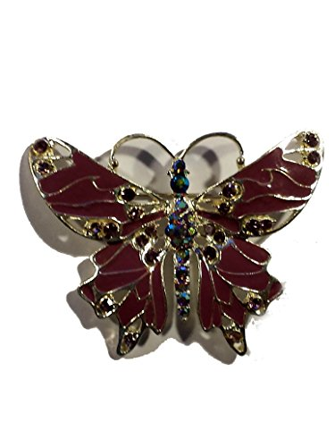 PheromoneOil.com Purple Crystal Fantasy Butterfly Pin