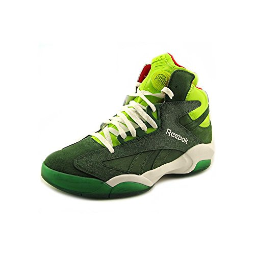 Green Reebok Attack Pump Basketball Boots Shaq Sonic Mens FqFRxYS