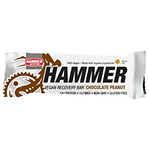 Hammer Nutrition Vegan Recovery Bar Chocolate Peanut, 12 count - Men's