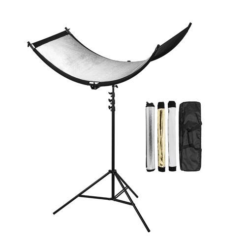 Glow ArcLight Curved Reflector Kit with 7.2' Pro Air-Cushioned Heavy-Duty Light Stand