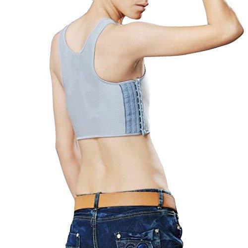 Unisex Tank Top Cors/és Tukistore Buckle Trans Transpirable Camiseta sin Mangas Carpeta para el Pecho Tomboy Cosplay Body Shaper Cors/és Chaleco