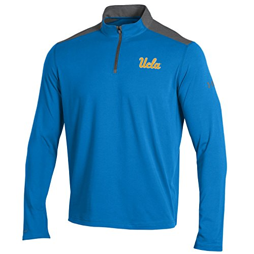 Under Armour NCAA UCLA Bruins Men's Charged Cotton Lightweight 1/4 Zip Shirt, 3X-Lagre, Powder Keg