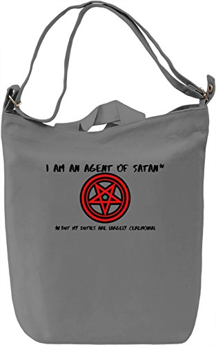 I am an agent of satan Borsa Giornaliera Canvas Canvas Day Bag| 100% Premium Cotton Canvas| DTG Printing|