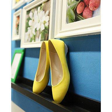 Zormey Women'S Shoes Leatherette Chunky Heel Heels / Round Toe Heels Office &Amp; Career / Dress / Casual Black / Blue / Yellow US8.5 / EU39 / UK6.5 / CN40
