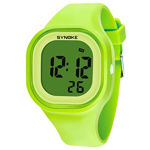 Synoke Kids Digital Timing Multifunctional Luminous Waterproof A Jelly Sport Watch