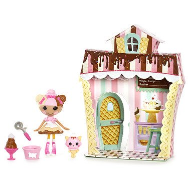 Lalaloopsy Mini Sweet Shop with Figure and Accessories Scoops Waffle Cone