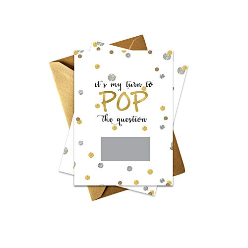 Bridesmaid Invitation Card - Shimmer Ask My Bridesmaid Scratch Off Cards | Set of 8 Proposal Cards and Gold Envelopes