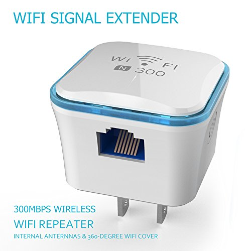 Wireless WiFi Repeater, TOP-MAX 300Mbps WiFi Range Extender, 2.4GHz WiFi Signal Amplifier Booster, Supports Router Mode/ Repeater/ Access Point, 360 degree WiFi Coverage by TOP-MAX
