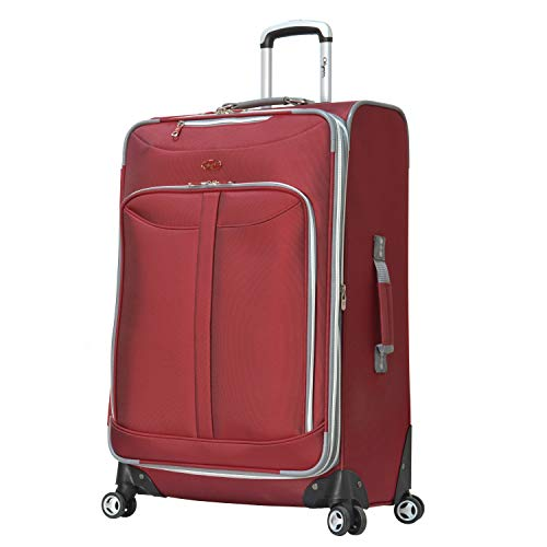 - Olympia Luggage  Tuscany 30 Inch Expandable Vertical Rolling Luggage Case,Red,One Size