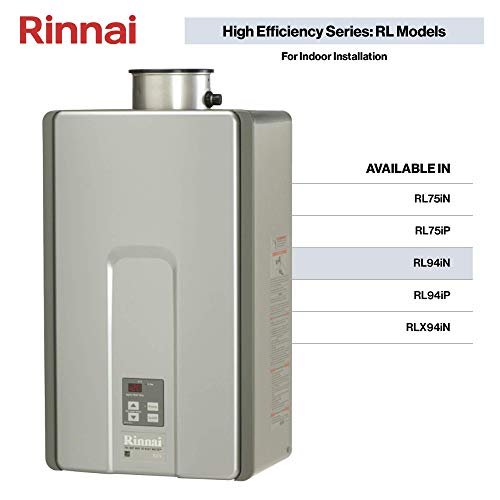 Gas Hot Water Heater Installation - Rinnai RL Model Tankless Hot Water Heater: Indoor Installation