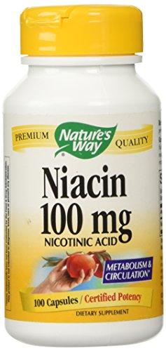 Natures Way Niacin 100mg Capsules