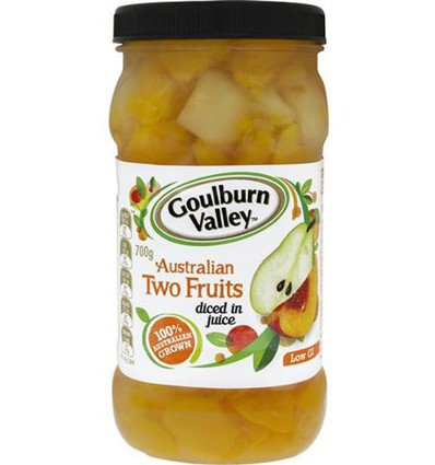 Goulburn Valley Two Fruits Diced 700gm x 6