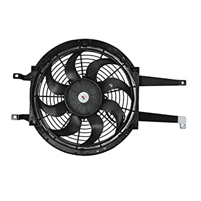 Auxiliary A/C AC Condenser Cooling Fan Assembly Right RH for Chevy GMC Pickup: Automotive