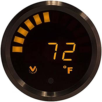 Auto Thermometer Gauge For Any Semi Pickup Truck Or Car Bezel Chrome Led Color