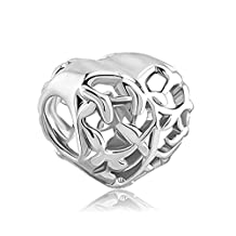 New Filigree Heart Love Charms Hollow Family Tree Jewelry Sale Cheap Beads Fit Pandora Charm Bracelets