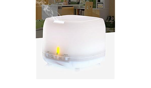 XGMSD Aromaterapia Humidificador De Ondas Ultrasónicas Purificador De Aire 500ml 12 Cm De Alto Longitud 16 Cm.,White: Amazon.es: Hogar