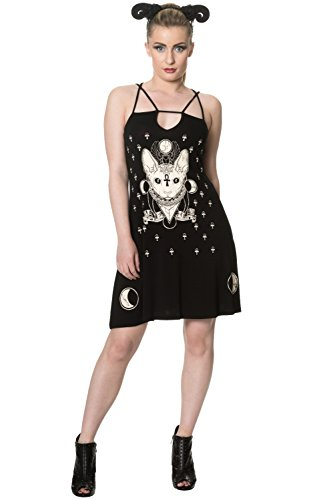 Banned Apparel - 9 Lives Strappy Dress - Clothing Banned Uk
