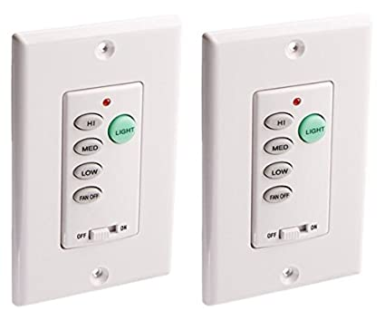 Amazon westinghouse 7787500 wireless ceiling fan and light westinghouse 7787500 wireless ceiling fan and light wall control 2 pack aloadofball Image collections