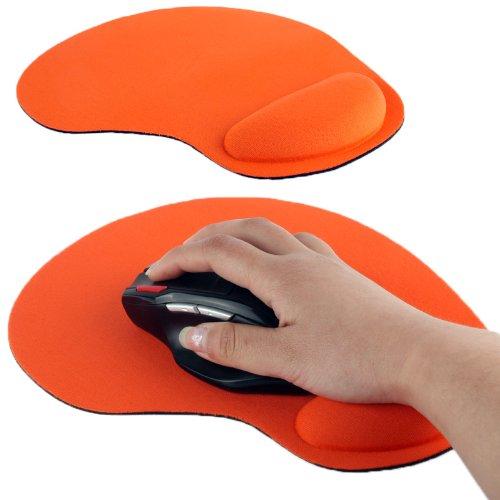 Ultra Slim Cloth Wrist Rest Mouse Pad (Orange)