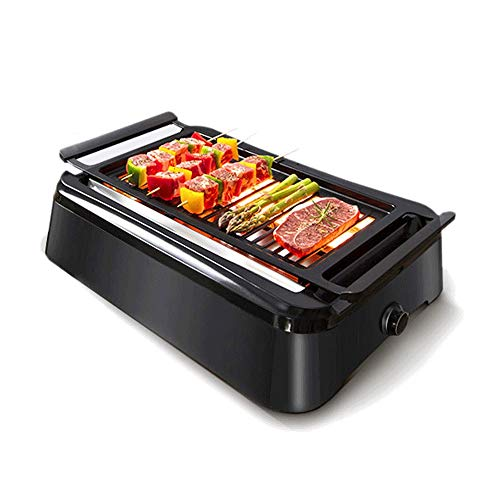 HPCFYJ Multifunction Smokeless Indoor Grill,Portable Electric Infrared Indoor Grill,Removable Plates,Easy to Clean,Suitable for Outdoor Travel, Family Gathering