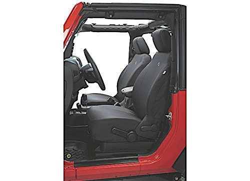 Bestop 29280-35 Black Diamond Front Seat Cover for 2007-2012 Jeep 2DR Wrangler and Unlimited Bestop Front Seat Covers