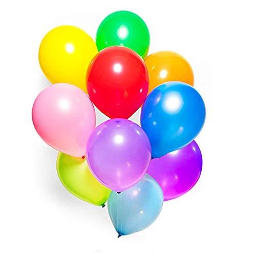 Koogel 100 Pcs Assorted Colored Latex Balloons 12