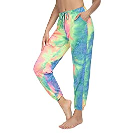 Sarin Mathews Womens Joggers Yoga Sweatpants Loose Comfy Workout Drawstring Lounge Pants for Women with Pockets