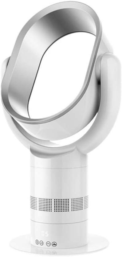 Ventilador sin hojas, Fa de enfriamiento ultra silencioso inteligente con control remoto, pantalla táctil, ventilador temporizador, ventilador de seguridad, ventilador de aire acondicionado,Silver: Amazon.es: Hogar