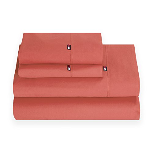 Tommy Hilfiger TH Signature Coral Queen Sheet -