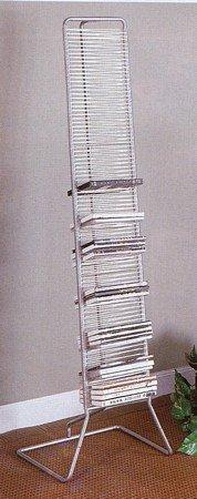 modern-style-white-silver-finish-cd-dvd-rack-holder