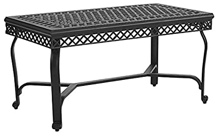Amazoncom Crosley Furniture Portofino Outdoor Aluminum Coffee - Black aluminum outdoor coffee table