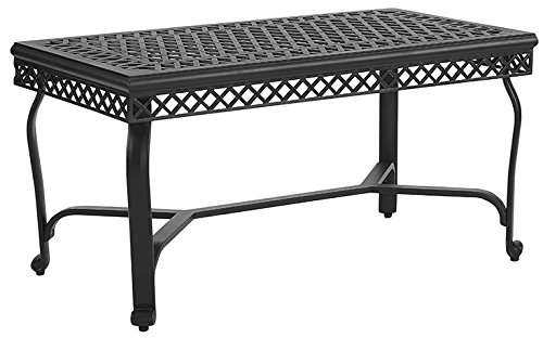 Crosley Furniture CO6203-BK Palermo Outdoor Aluminum Coffee Table, Black