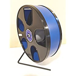 "Chinchilla, Hedgehog, WIDE TRACK 12"" Diameter Exercise Wodent Wheel-Dark Blue with Black Panels"