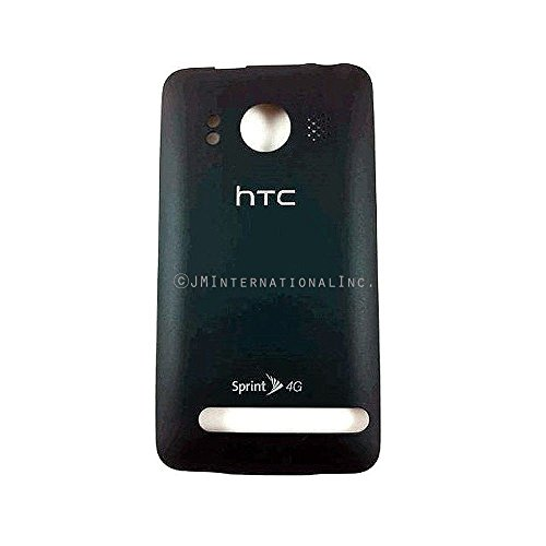 ePartSolution_Rear Back Cover Battery Door Housing for HTC EVO 4G Replacement Part USA Seller (Black) (Door Battery Htc)
