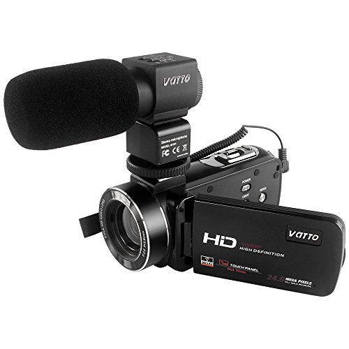 Camcorder, VATTO WIFI Video Camera Full HD 1080P 30FPS 24...